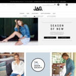10% off Full Priced Items at JAG with Member Sign Up + $20 off with Code + Free $20 Gift Voucher on Your Birthday No Minimum
