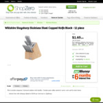 Wiltshire Staysharp Stainless Steel Capped Knife Block - 12 Piece for $43 + Free Shipping @ ShopZero