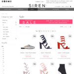 Extra 30% off Sale Items - Siren Shoes - Ladies Leather Shoes & Boots: i.e. RRP 219.95 Now $77