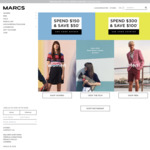 $50 off $150, $100 off $300 Spend on Full Price Clothing and Accessories @ Marcs