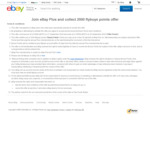 Join eBay Plus and Collect 2,000 Flybuys Points @ eBay