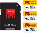 Strontium NITRO 16GB MicroSD (3 Pack) with SD Adapter - $10.78 (64% off) + Free Shipping @ techplayground.com or Amazon AU