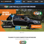 Win an All 4 Adventure Package incl an Isuzu D-Max Ute Worth $158,212 from Park Bligh