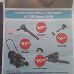 (VIC) ALDI Altona North - 45cc Petrol Chainsaw, 25.4cc Petrol Line Trimmer & 25.4cc Petrol Blower Vac $49.99 Each