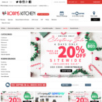 20% off Sitewide, Free Shipping Over $89 (Excludes Electrical, Appliances, Kitchen-aid att. & Pet meds/food) @ Robins Kitchen