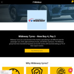 Buy 4, Pay for 3 @ Tyroola.com.au on Wideway Tyres