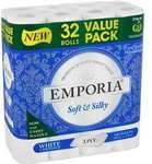 Emporia 3ply Toilet Tissue White 32 Pack for $12 @ Woolworths