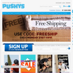 Free Shipping on Orders over $30 @ Pushys
