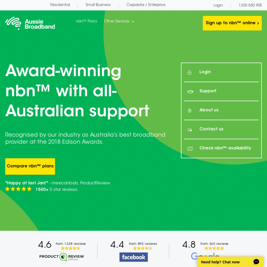 NBN 50/20 Unlimited $59/Month First 6 Months ($79/Month