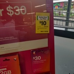 Telstra Prepaid $30 Starter Pack for $10 @ Woolworths