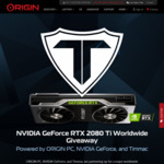 Win an NVIDIA GeForce RTX 2080 Ti Founders Edition Graphics Card Worth $1,899 from ORIGIN PC