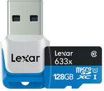 LEXAR 128GB High-Performance MicroSDXC Memory Card 633x C10 w/USB 3.0 Reader $50 + Free Delivery @ techplaygroundAU eBay