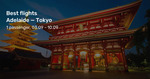 Adelaide to Tokyo, Japan on Qantas Airways from $726 Return @ Beat That Flight (May to Nov) (some JAL too)