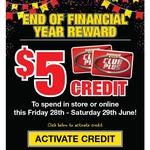 $5 Credit for Use Until 29/6 @ Supercheap Auto (Club Plus Members)