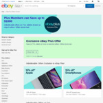 [eBay Plus] 15-20% off Eligible Items (e.g. 15% off Apple) from Selected Sellers @ eBay