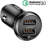 Baseus Quick Charge QC 3.0 Car Charger Dual USB Mobile Phone Charger $9.85 Delivered @ Eskybird