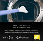 [VIC] Free Sensor Clean for Nikon DSLR and Mirrorless Cameras @ Digital Camera Warehouse, Northcote