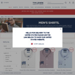 5 Shirts Delivered for $149 ($29.80 Each); 1 Shirt ($40) + Delivery (Free over $50) @ T.M.Lewin
