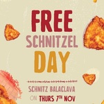 [VIC] Free Schnitzel and Chips (First 500 Only - 5.30pm to 7.30pm, 7th November) @ Schnitz, Balaclava