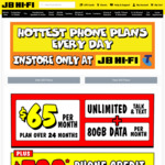 Telstra 12 Month Postpaid 60GB $65/Month & $400 JB Hi-Fi Gift Card (Port-in and New Numbers, in-Store Only) @ JB Hi-Fi