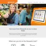 Bonus 30-1000 Woolworths Reward Points When You Check-In At Rewards Hub @ Woolworths (Selected Stores)