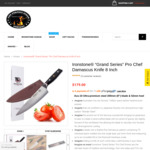 """Ironstone """"Grand Series"""" Pro Chef Damascus Knives $107.40 (was $179) + Free Steak Book ($36) + Shipping @ ThePerfectSteak"""