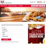 KFC: 24 x Nuggets for $10 (via App from 21/1, in-Store from 28/1)