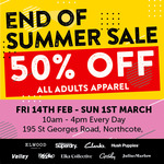 [VIC] SuperDry Hoodies $35, Hush Puppies, Clarks & Julius Marlow Shoes $30@ Brand Collective Warehouse (Northcote) Extra 50% off