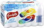 Frantelle Spring Water 24x 600ml - $6.00 + Delivery ($0 with Prime/$39 Spend) @ Amazon AU