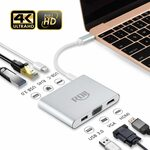 [Prime] USB C Hub, USB 3.1 (Thunderbolt 3) Type-C to HDMI VGA Adapter with 4K HDMI $36.49 @ RDII via Amazon AU