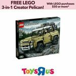 "[eBay Plus] LEGO 42110 Technic Land Rover Defender $251.12 Delivered @ Toys ""R"" Us eBay"