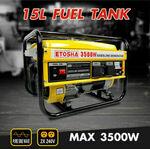 ETOSHA Petrol Generator 3.5kva Single-Phase Inverter Portable Gasoline Pure Sine $413.10 Delivered @ eastbayauto eBay