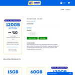 90 Days Plan (ID: 623) - $50 for 120 GB (New Customers, First 90 Days) @ Catch Connect
