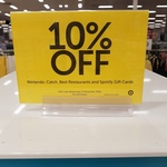 10% off Nintendo, Catch, Best Restaurant and Spotify Gift Cards @ Target