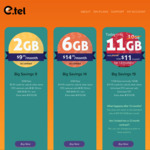 E.Tel Mobile Plan (Optus 4G Network) - $11p/m for 11GB Data, Unlimited Calls & SMS, $19.95 Credit for MMS, International Calls