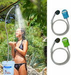 Portable USB Shower Water Pump Rechargeable Handheld Shower AU Stock US$19.99 (~A$26.29) Delivered @ Banggood AU