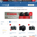 All Full Frame Canon Cameras Discounted: EOS R5 $5366.81, EOS R6 Body $3494.92, EOS R Body $2418.42 Delivered @ Camera Warehouse