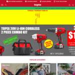 Topex 20V Cordless Drill Driver / Impact Driver Combo Kit $129 + Delivery/Free for Major Cities @ Topto