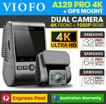 [Afterpay] VIOFO A129 Pro Duo 4K Front + Full HD Rear Wi-Fi GPS Dash Camera AU Stock $267.20 Delivered @ SportGPS eBay