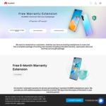 Free 6-Month Warranty Extension for Existing/New Huawei Smartphones @ Huawei AU
