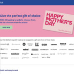 Buy Your Pick Mother's Day Gift Card for $100 / $150 / $200 & Earn 300 / 600 / 1000 Woolworths Rewards Pts @ Prezee