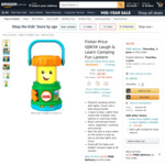 Fisher-Price Laugh & Learn Camping Fun Lantern $9.00 (Was $24.99) + Delivery ($0 with Prime/ $39 Spend) @ Amazon AU
