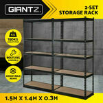 Giantz 2x 1.5m X 0.7m X 0.3m Warehouse Racking Shelving Rack $63.96 Delivered ($62.36 with eBay Plus) @ Ozplaza.living eBay