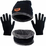 H HOME-MART Beanie Hat With Gloves $13.56 + Delivery ($0 with Prime/ $39 Spend) @ HOME-MART via Amazon AU