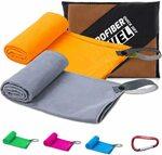 YESDEX 2-Pack Microfiber Gym Sport Towel, Grey+Orange $12.99 + Post ($0 Prime/ $39 Spend) @ Yesdex Amazon AU