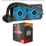 AMD Ryzen 5 5600X CPU & Arctic Liquid Freezer II 240mm AIO Bundle $499 + Shipping @ PC Case Gear