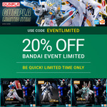 20% off BANDAI Gundam Event Limited Kits + $12.50 Insured Delivery (Orders over $99, $3 Insurance Only) @ Hobbyco