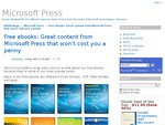 Free Microsoft Press eBooks