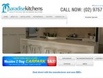 2 Days Only Car Park Sale at Paradise Kitchens Bathroom Products, Accessories, Tapware, Showers [NSW]