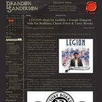 Free Book at Audible until End of 2012: Legion by Brandon Sanderson (for US/Canadian Accounts)